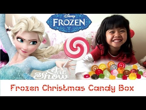 FROZEN Elsa Anna Christmas Candy MYSTERY TREASURE BOX UNBOXING !!!