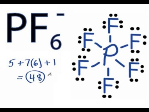 PF6 Lewis Structure: How to Draw the Lewis Structure for Hexafluorophosphate
