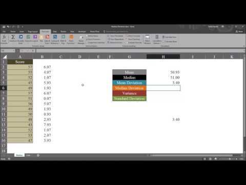 Median Absolute Deviation using Microsoft Excel