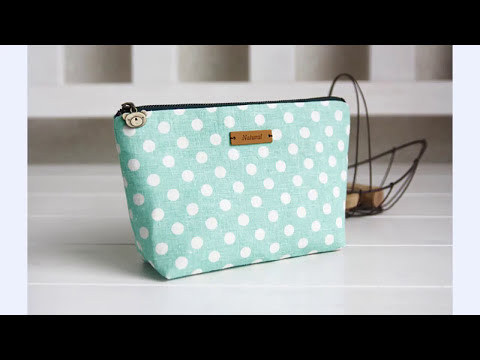 Shine Sewing Tutorial Linen Zipper Bag Tutorial