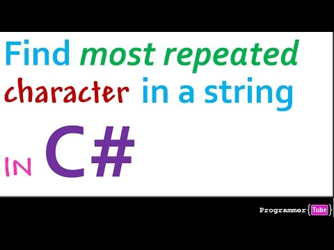 How to find the most repeated character in a string in C#.NET