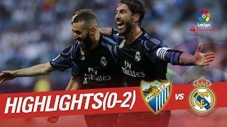 Resumen de Málaga CF vs Real Madrid (0-2)