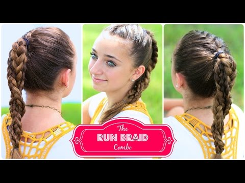 The Run Braid Combo   Hairstyles for Sports