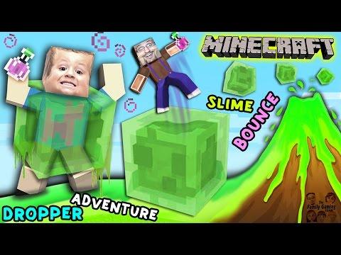 Minecraft Slime Bounce   FGTEEV Dropper Parkour Adventure Mini-Game Map