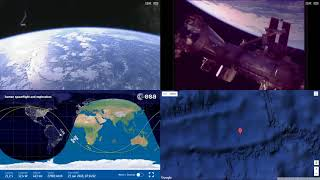 Orbital Sunrise Over South Atlantic - ISS Space Station Earth View LIVE NASA/ESA Cameras And Map 38