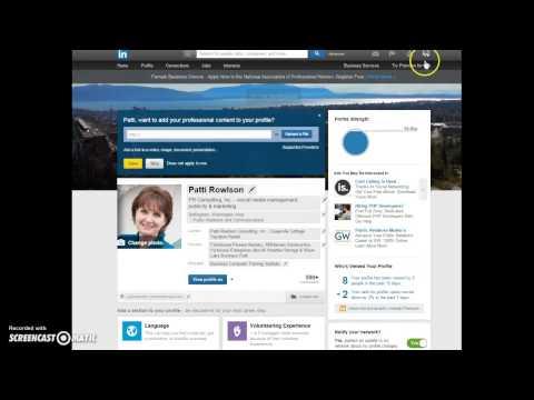 LinkedIn Basics - editing your profile and settings