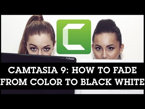 Camtasia 9 Fade Between Color to B&W in Your Videos - Color Animation Effect