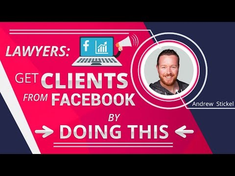 Lawyers: Get Clients From Facebook By Doing This