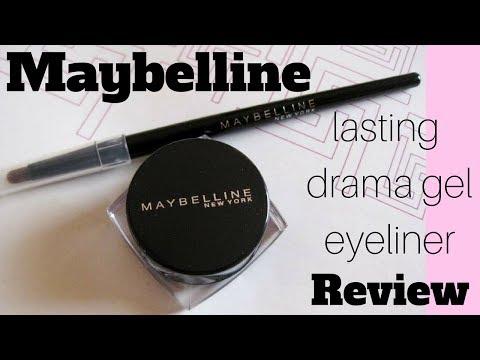 Maybelline Newyork Lasting Drama Gel Eye Liner || Review | #maybelline #gel eyeliner