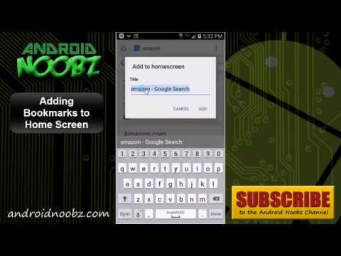 How to Put Websites on Home Screen Android with Bookmarks