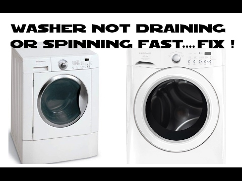 Front load washer not draining or spinning fast Frigidaire Affinity DIY