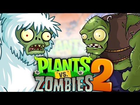 Giant Gargantua Zomboss Vs Monster Yeti Battle | Pinata Party! | Plants Vs Zombie 2 (Pvz 2 IOS)