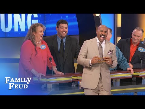 GOOD NEWS: Your wife's AN ANIMAL in bed! BAD NEWS: She's THIS ANIMAL. | Family Feud