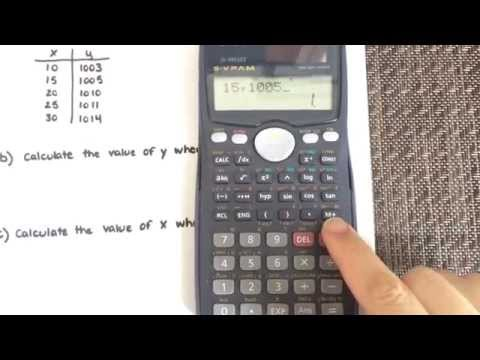 Linear Regression using a calculator (Casio fx-991Ms)