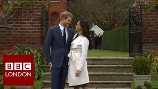 Reaction to the engagement of Prince Harry and Megan Markle – BBC London News