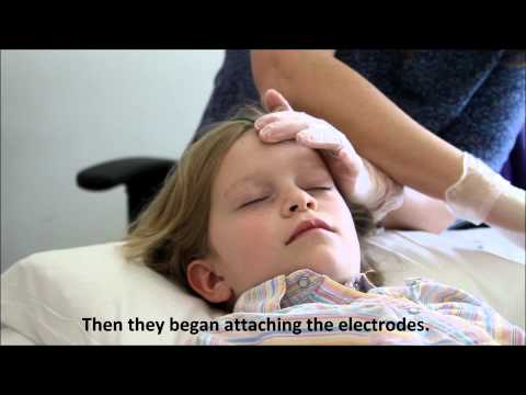 EEG test for seizures in children