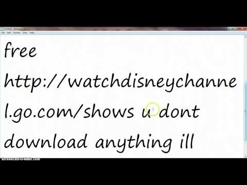 free disney channel shows no download