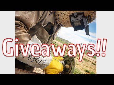 Subscriber Giveaways!! Welding Hoods, Leads