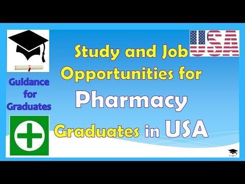 Study and Job Opportunities for Pharmacy Graduates in USA, Study in USA