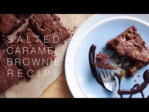 Salted Caramel Brownie Recipe | ViviannaDoesBaking