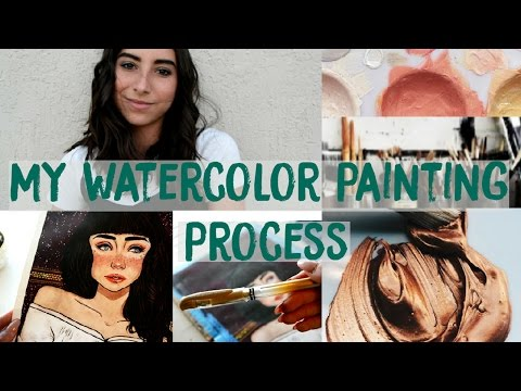 My Watercolor Painting Process + Supplies