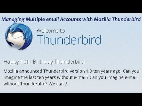 Managing Multiple email Accounts with Mozilla Thunderbird
