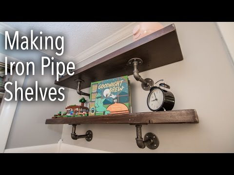 How To Make Industrial Iron Pipe Shelves