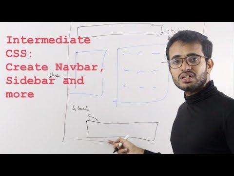 CSS Intermediate: Creating a layout with sidebar, navbar.