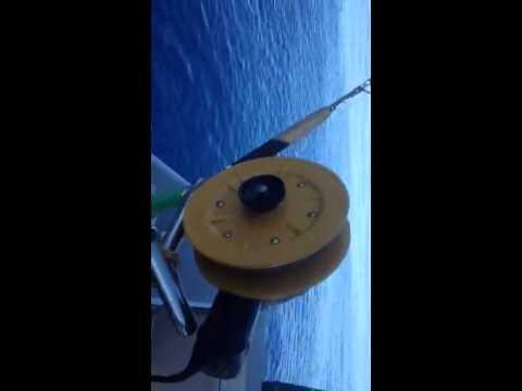 home made fishing reel