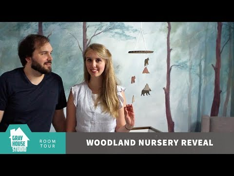 Woodland Themed Nursery Room Reveal