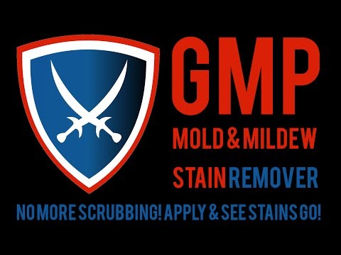 GMP Mold Stain Remover Makes Mold Stains Disappear