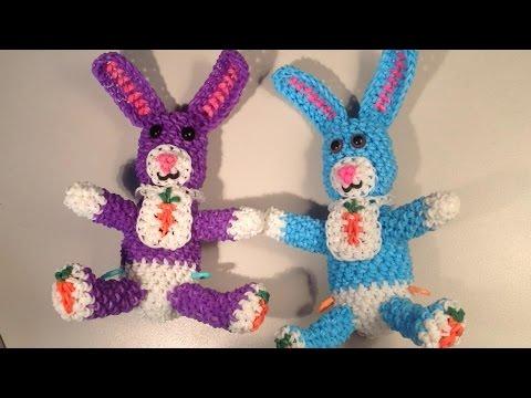 Baby Bunny Part 1 Loomigurumi Amigurumi Rainbow Loom Band Crochet Hook Only Easter