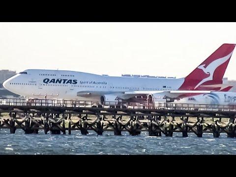 Qantas 747-400 (B744) departing New York (JFK/KJFK)
