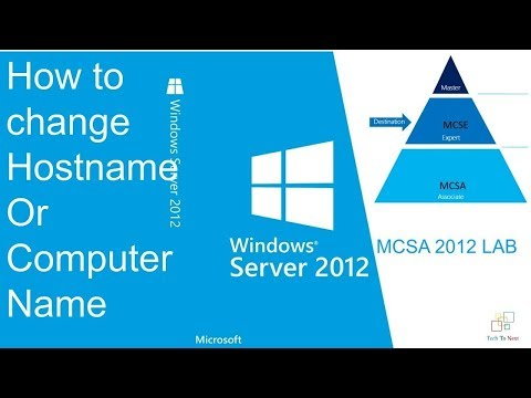 How to change host name in windows server 2012 r2 | Change computer name | How to Edit Host Name