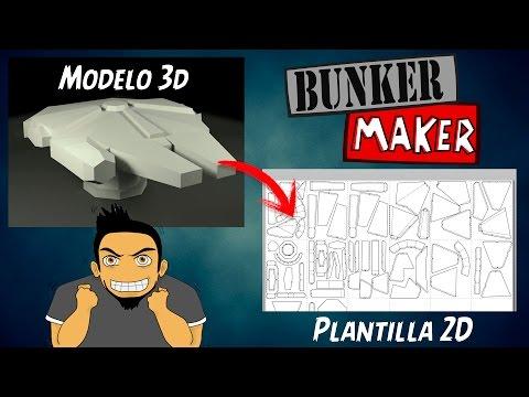 Como Pasar un Modelo 3D de blender a Plantilla 2D con Pepakura ★ Ft. BunkerMaker
