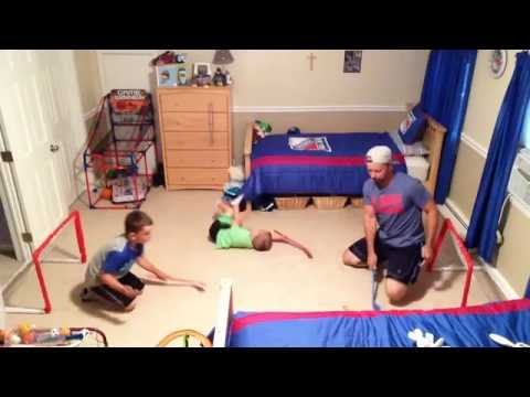 Knee Hockey Game with Goal Horn and Goal Camera 6/27/16