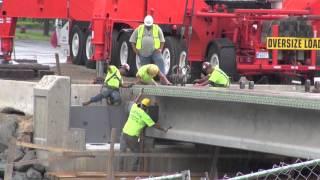 Manhan Bridge Construction - Easthampton Ma - MassDOT / Northern Construction 8/1/13