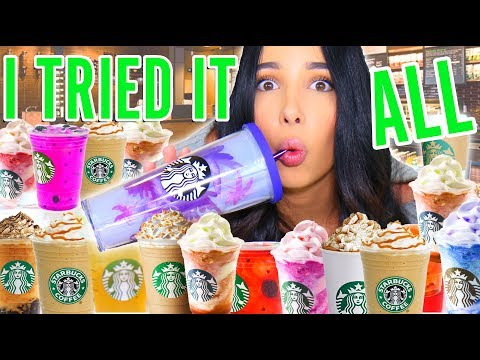 I Drink EVERYTHING On The STARBUCKS Menu (25,000 CALORIES!!) ☕️🥤 | Mar