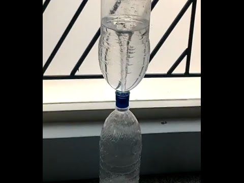 DIY Water Tornado in a bottle(cool science experiment) - INDIAN ALPHA