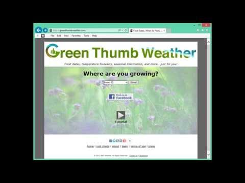Frost Dates Tutorial - Green Thumb Weather