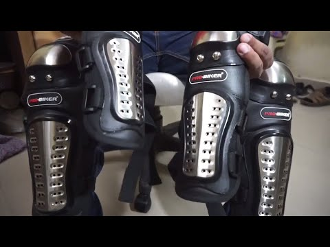 All Extreme ProBiker Stainless Steel Knee Shin Guards Elbow Guards