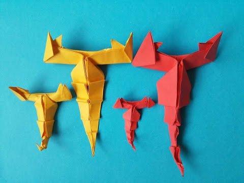 Xếp con bọ cạp - scorpion - origami