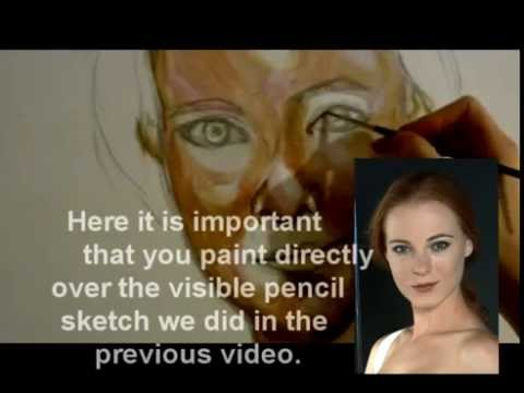A beginners guide to drawing and painting an acrylic portrait: Beginning the painting (VIDEO 2)