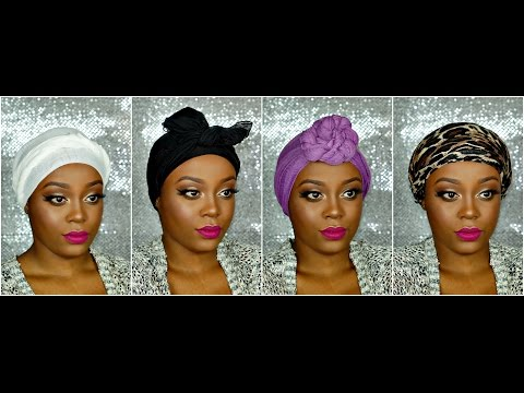 4 Easy Ways to Tie a Headscarf| Talk Through| Natural Protective Styles