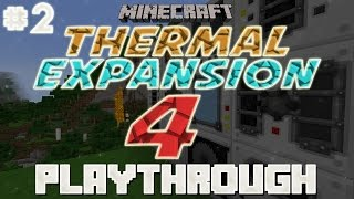 [1.7.10] Thermal Expansion 4 Playthrough! - Part 2 - Gathering Recources