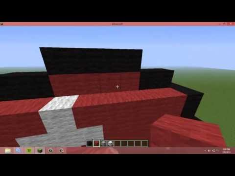 How to build a Pokeball in Minecraft very simple and easy tutorial