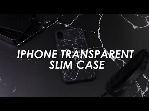 iPhone Transparent Slim Case - Design Your Own
