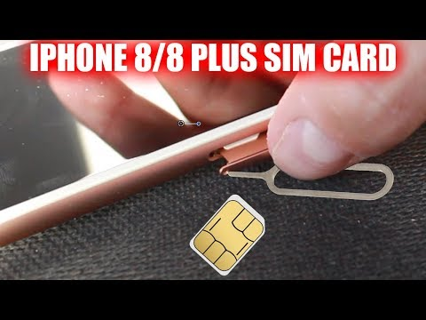How to Insert & Remove Sim Card iPhone 8 & iPhone 8 Plus