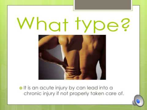 Lower back strain and spasm