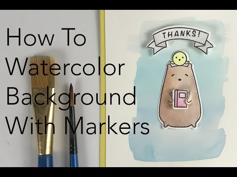 How To Make a Watercolor Background With Markers | Marvy Uchida